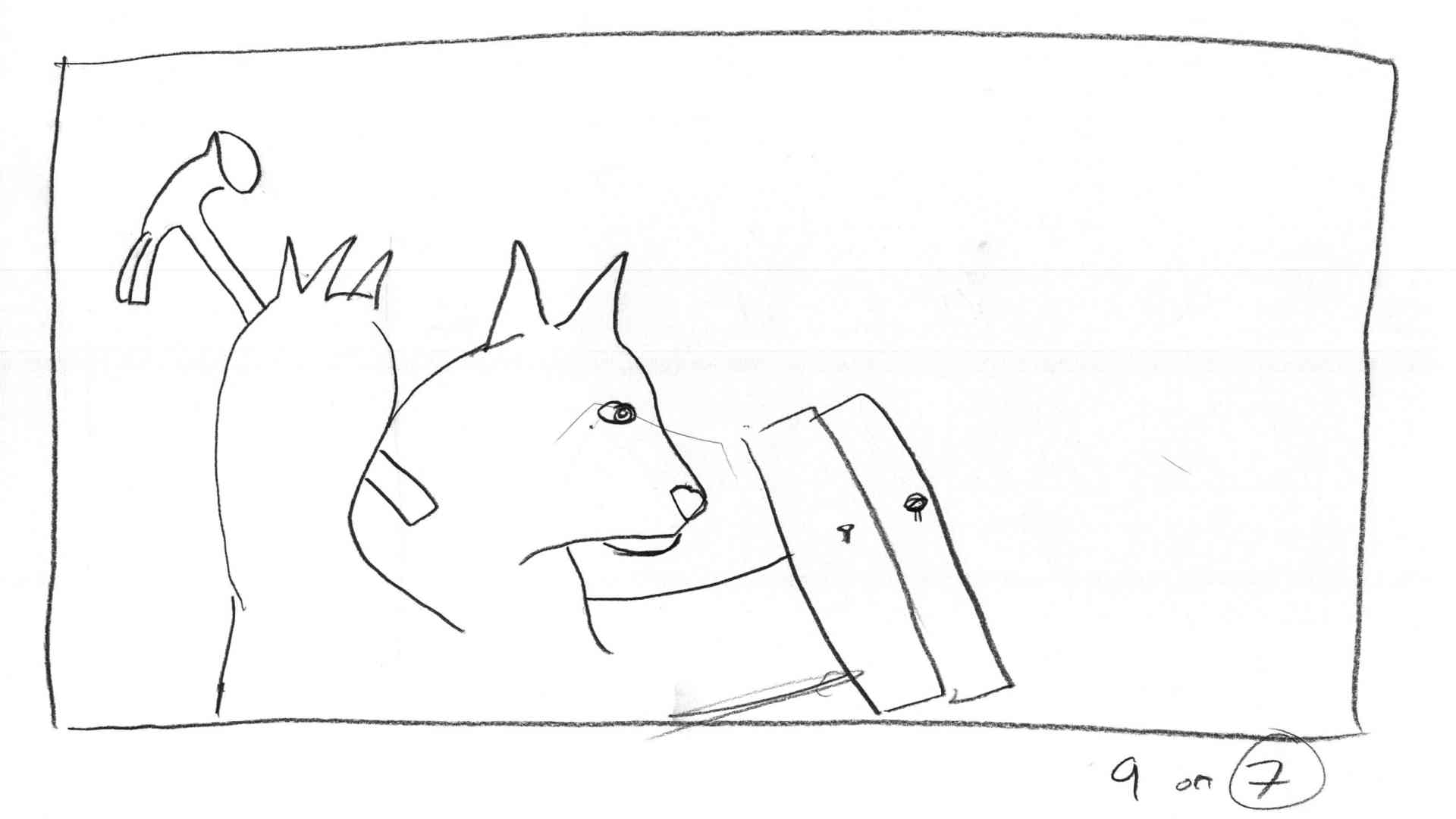 rough storyboard for, 'Animals' by Keith Del Principe
